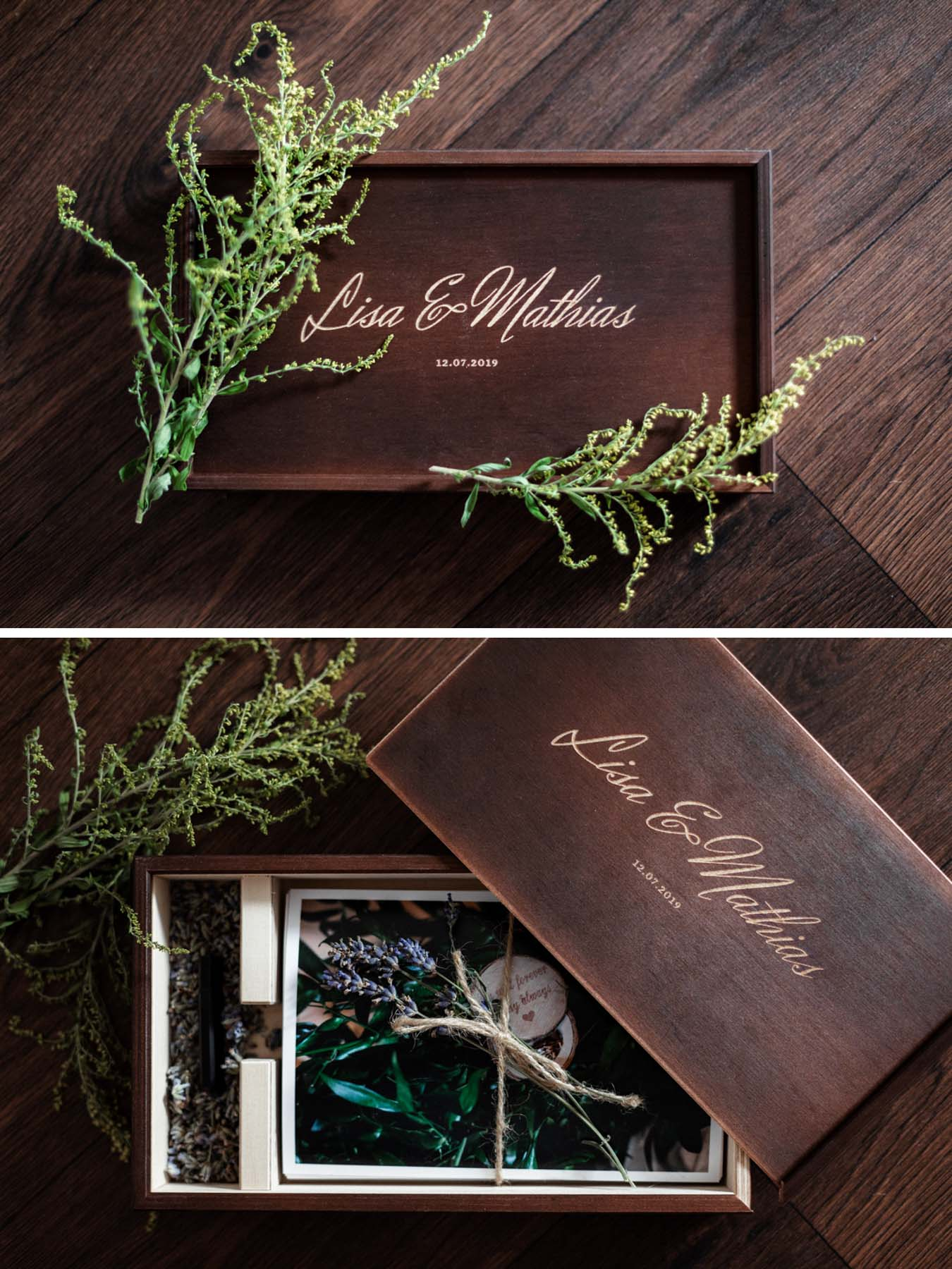 Holzbox Hochzeitsfotograf berlin Köpenick